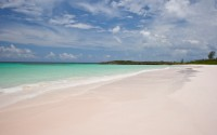 Pink sandy beach and turquoise waters