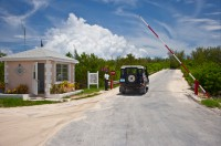 Gated Bridge to Windermere Island from Eleuthera
